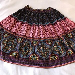 Dresses & Skirts - Boho Style Colorful Fun Print Gathered Full Skirt
